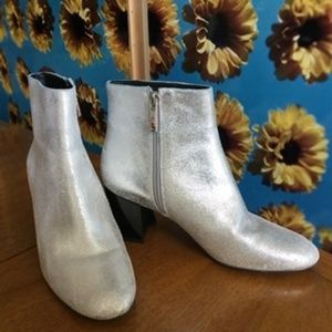 Kendall + Kylie silver booties